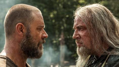 "Two views of what ""dominion"" means in the Book of Genesis: Noah's (Russell Crowe), and that of Tubal-Cain (Ray Winstone)."