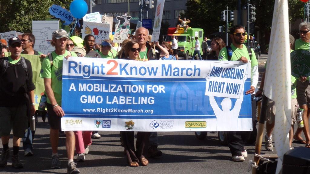 GMO labeling march