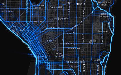 Downtown Seattle bike routes