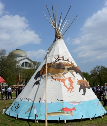 painted tipi
