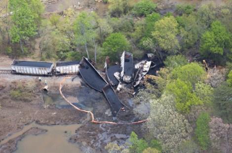 CSX Coal Train Derailment In Maryland