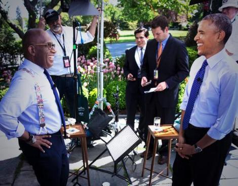 Al Roker and President Obama