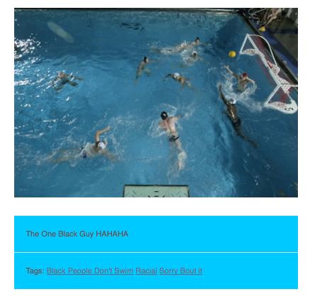 black people don't swim