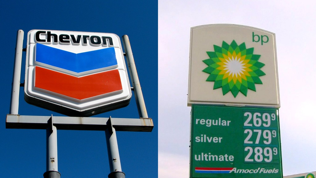 Chevron & BP signs