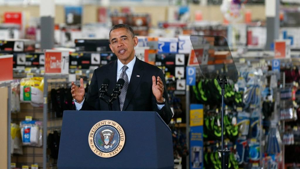 Obama at Walmart
