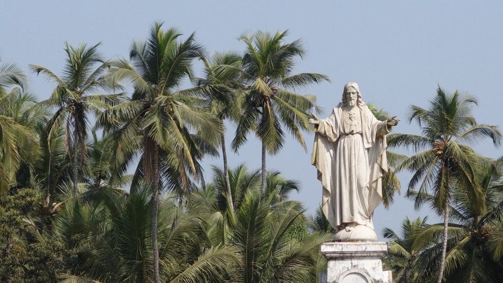 Jesus and palm trees