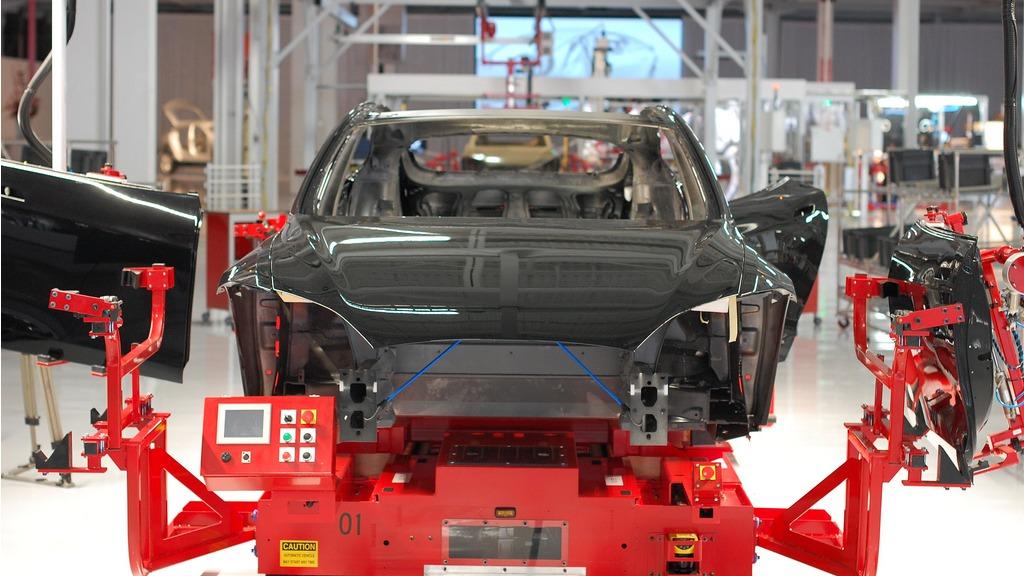 Inside Tesla's factory
