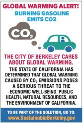 Berkeley climate change warning label