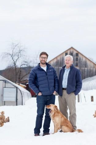 Arlo and Jim Crawford on New Morning Farm