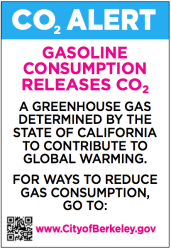 Proposed Berkeley gasoline warning label
