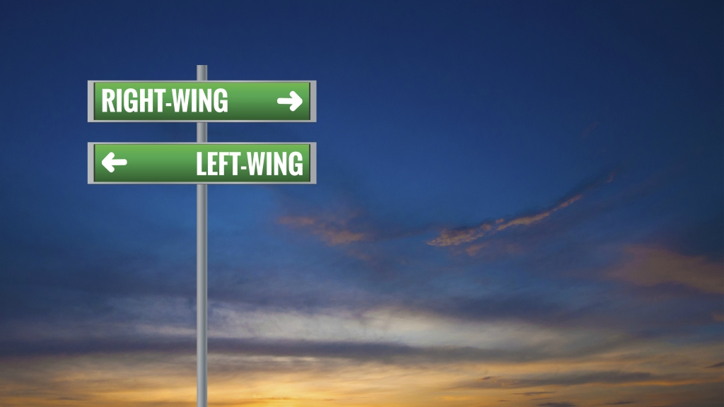 left-wing and right-wing signs