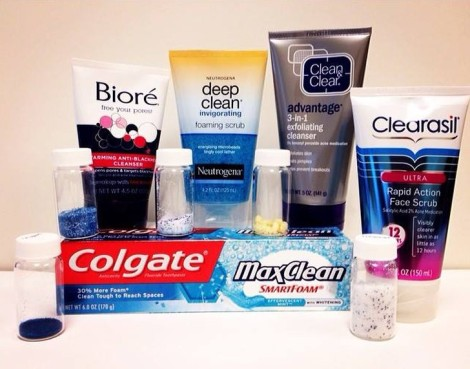 products containing microbeads