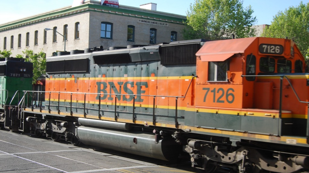 Freight train in Oakland
