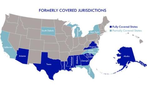 map of formerly covered jurisdictions