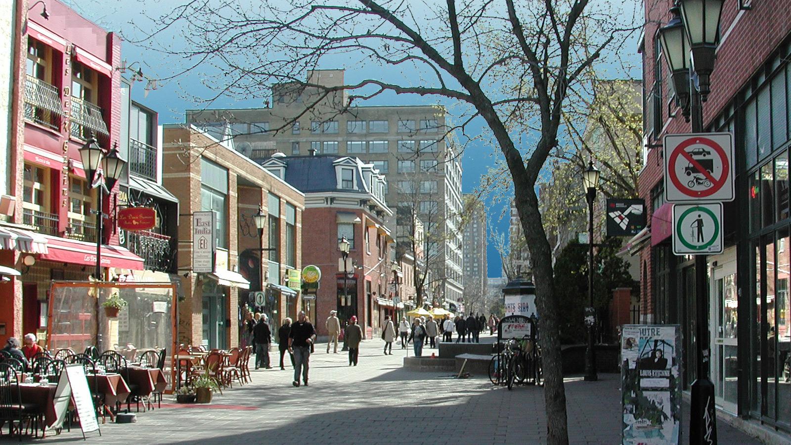 walkable city street