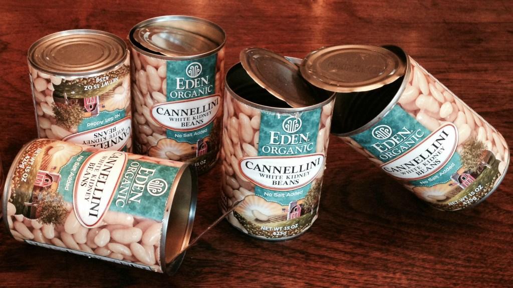 empty Eden cans