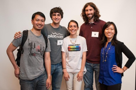 Left to right: Kevin Taniguchi, Marc Loeffke, Mariana Cotlear (from Chipotle), Brian Callaway, Alice Yen