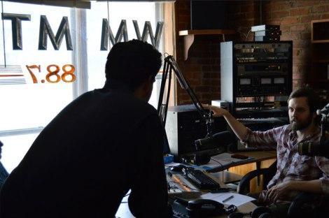 Inside WMMT, Appalshop's flagship radio station.
