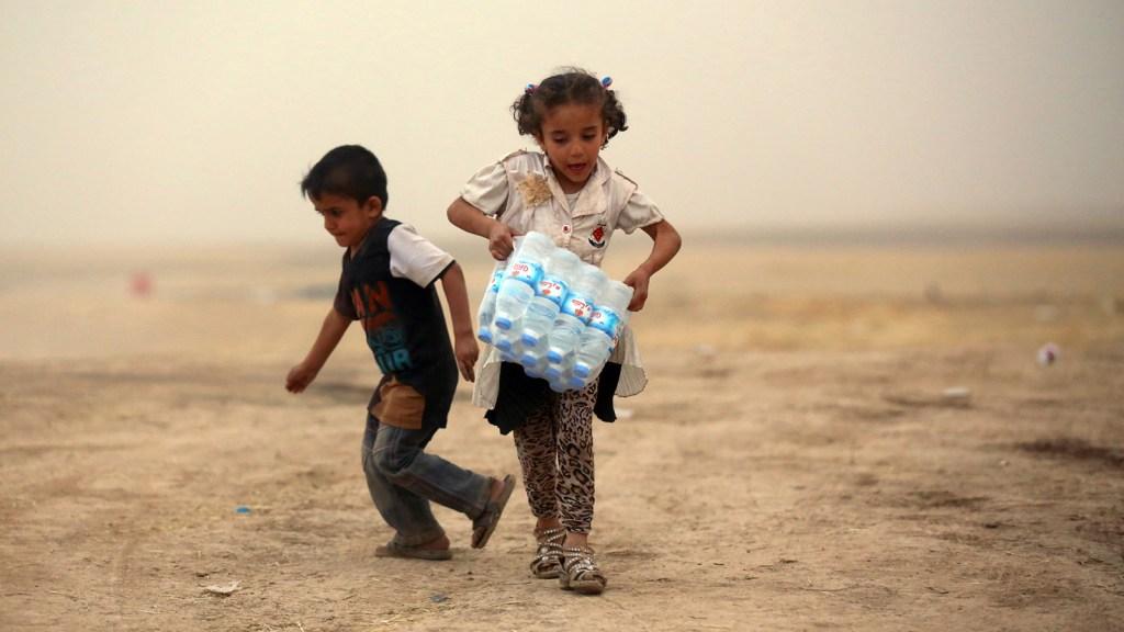 Refugee camp in Iraq's Kurdistan region.