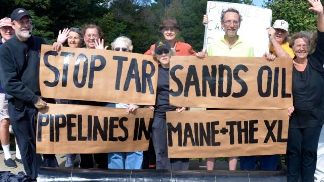 tar sands protestors in Maine