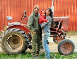 Jillian and Adam Varney run the Small Family CSA Farm in La Farge, Wis.