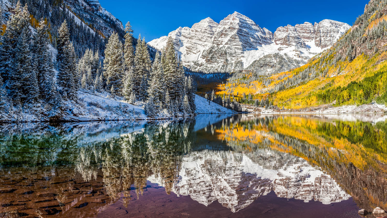 Maroon Bells at Aspen, CO