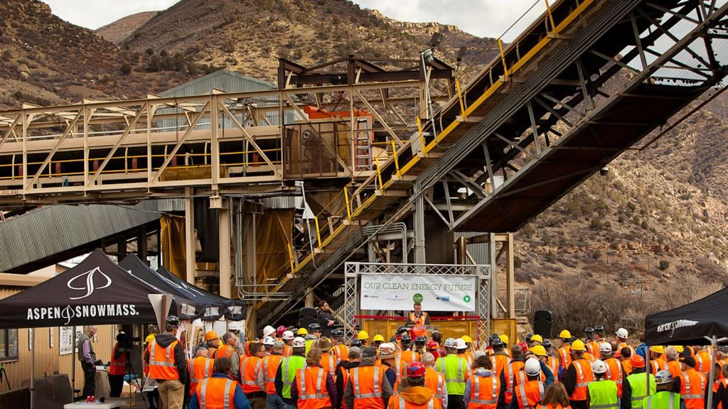launch event for coal mine methane capture project