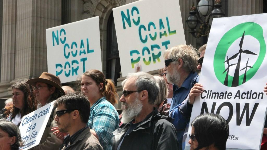 coal port protest