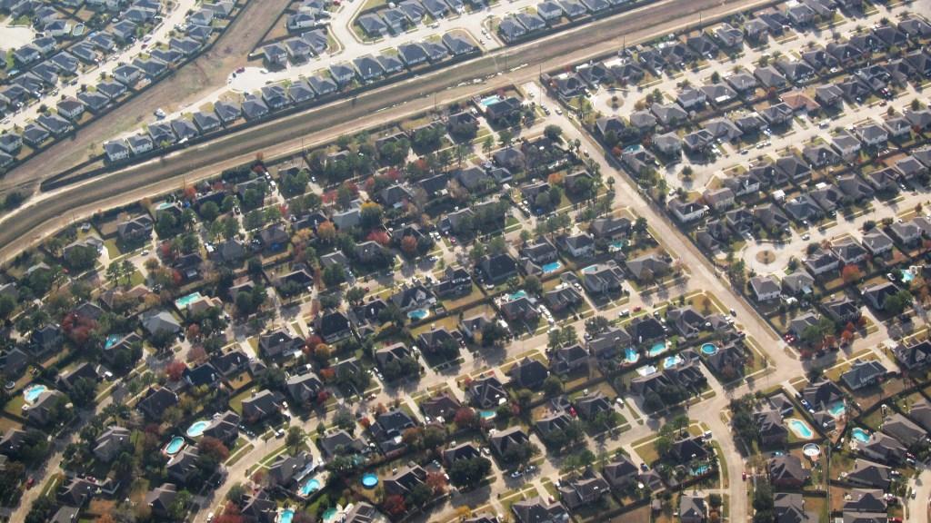 aerial view of Houston sprawl