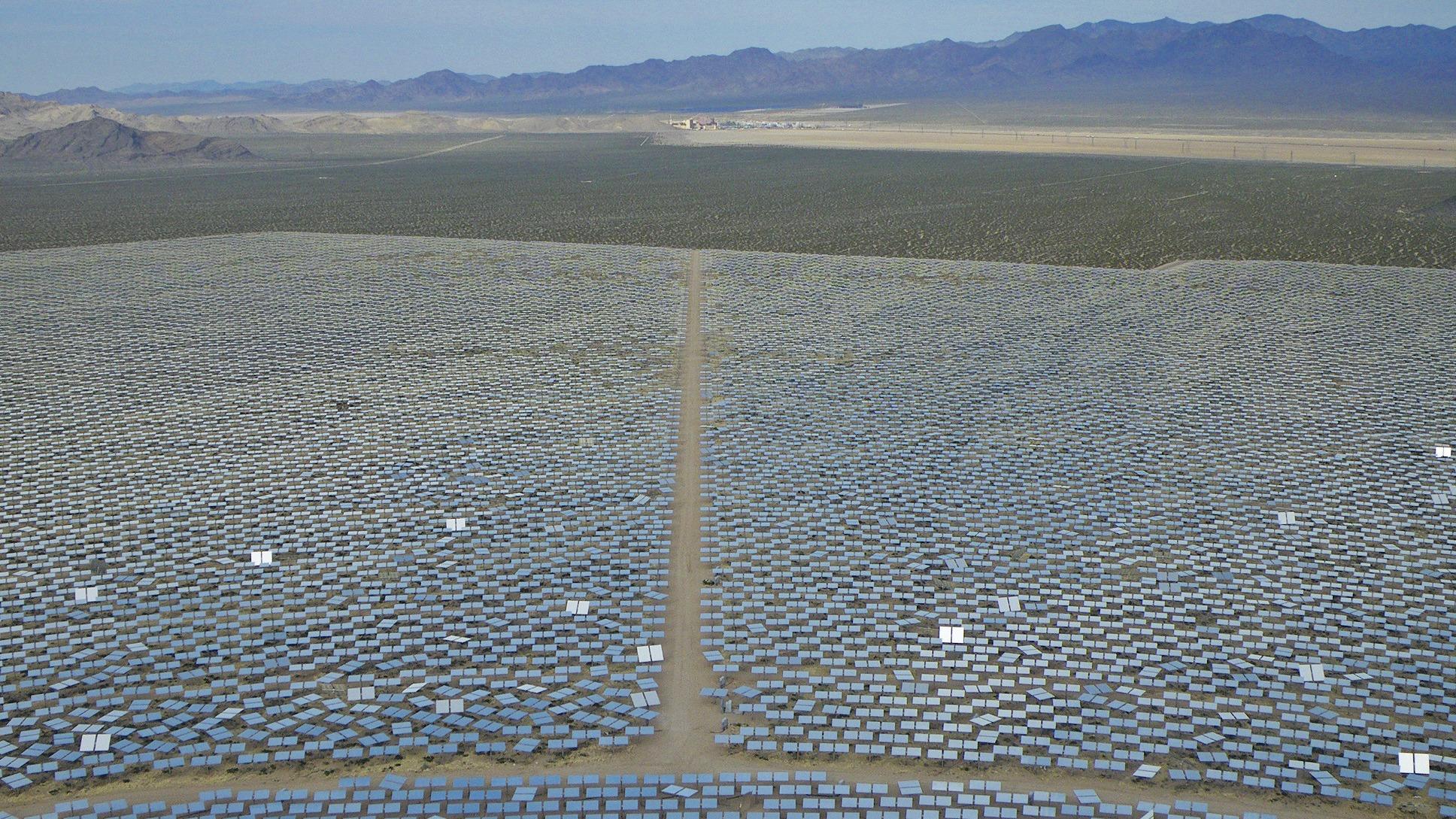 Ivanpah solar facility in Mojave Desert
