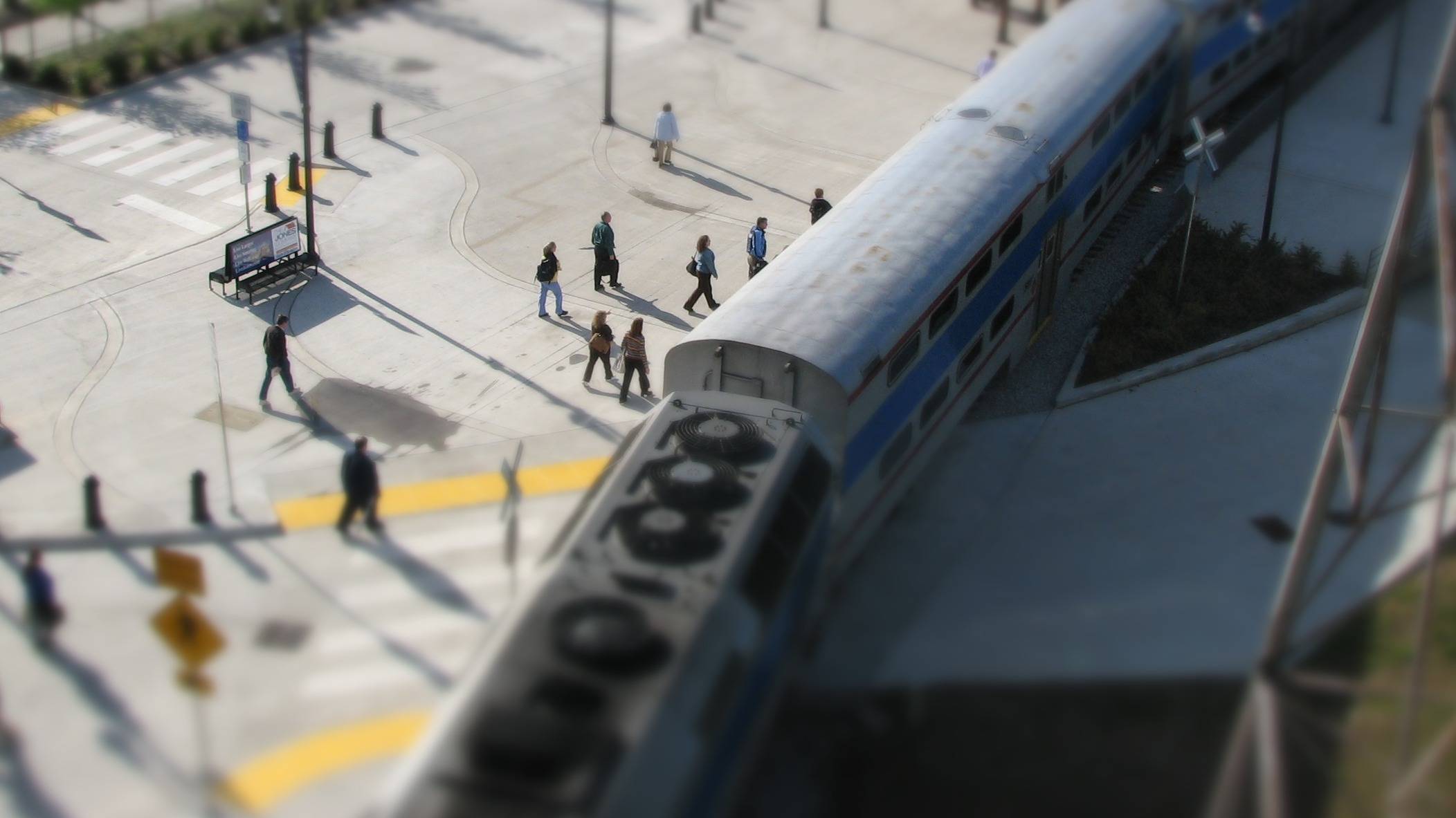 mini commuters and train