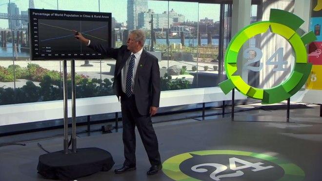 Al Gore presenting graph