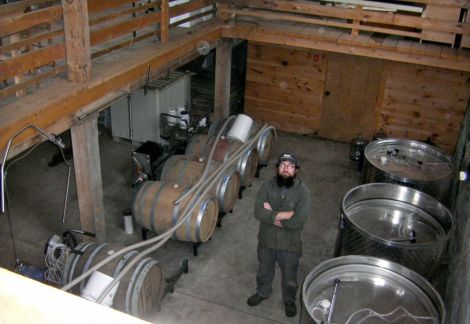 Brian Smith of Oyster River Winegrowers, in Warren, Me.