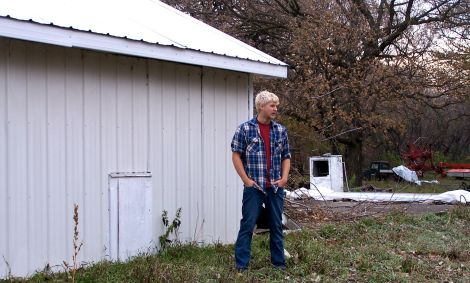Carsten Thomas and his repurposed welting barn in Moorehead, Minn.