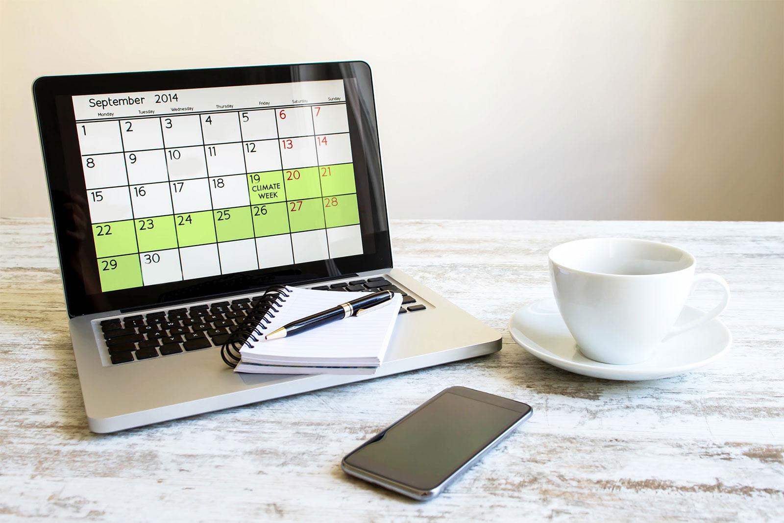 Climate Week calendar