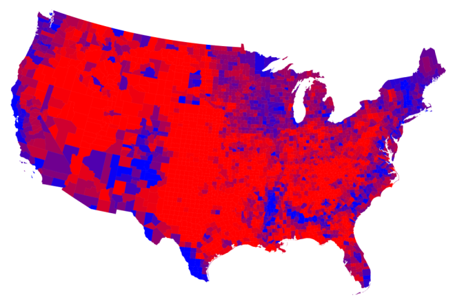 2012 election results, by county