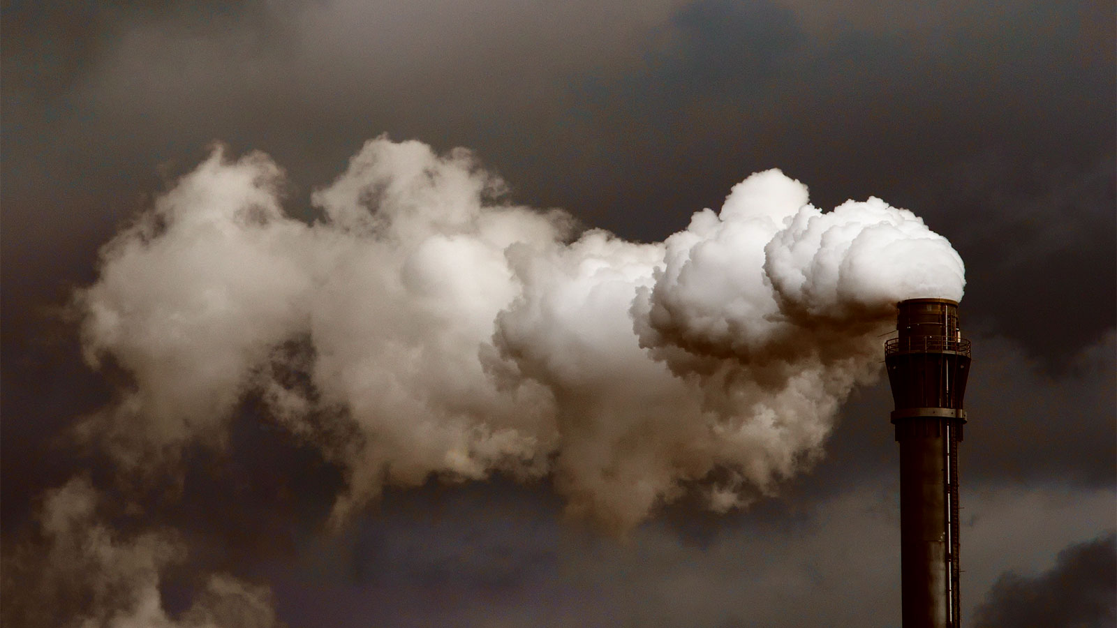 Dirty cloud coming out of smoke stack