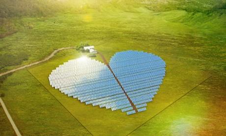 heart-shaped solar farm
