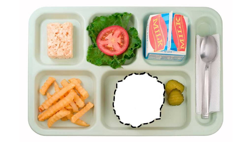Meatless Monday lunch tray