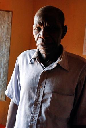 Lusela Murandika in his home in Kanyala village, Tanzania