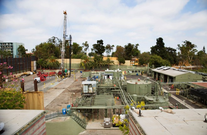 Freeport McMoRan operates 30 oil and gas wells -- of which 22 are active -- in the Murphy drilling site in West Adams, L.A.