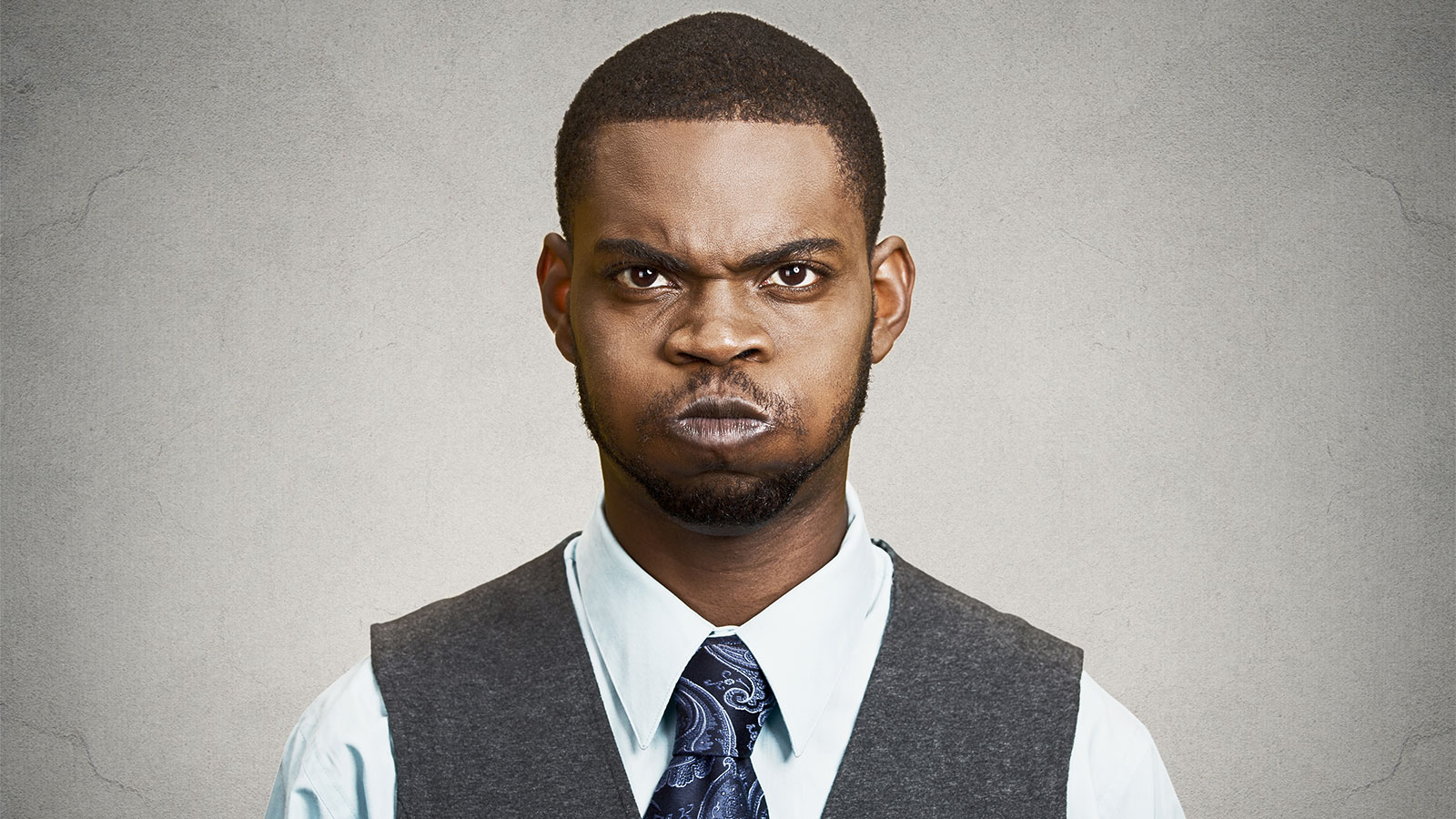 An angry young black man.