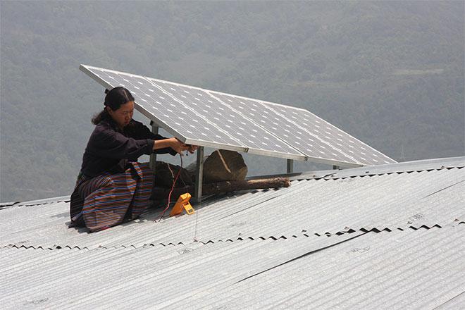 Solar panel in Bhutan