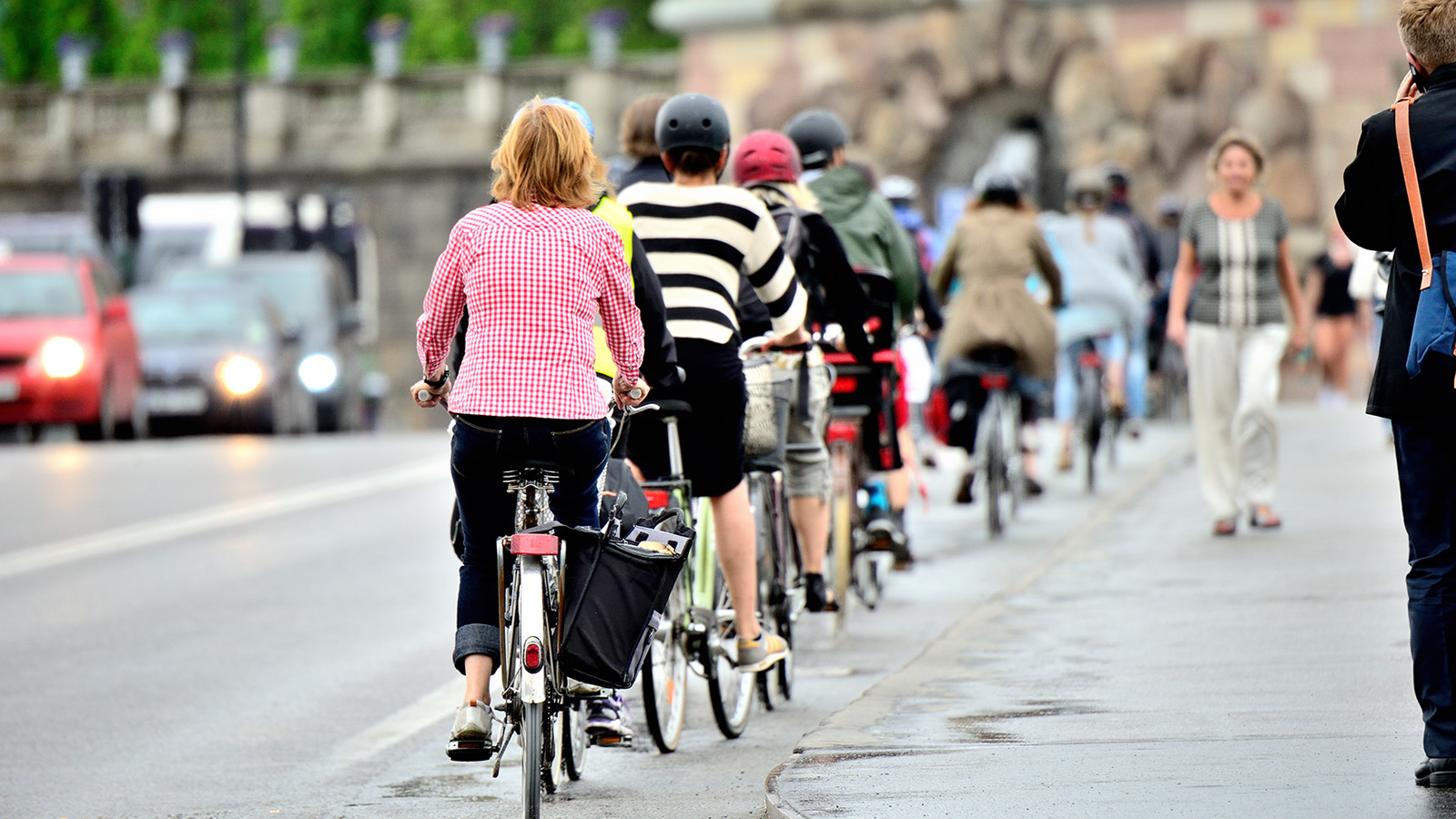 Bikes in bike lane