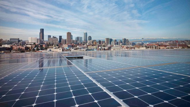 Even in Seattle, it's possible to power an office building with the sun.