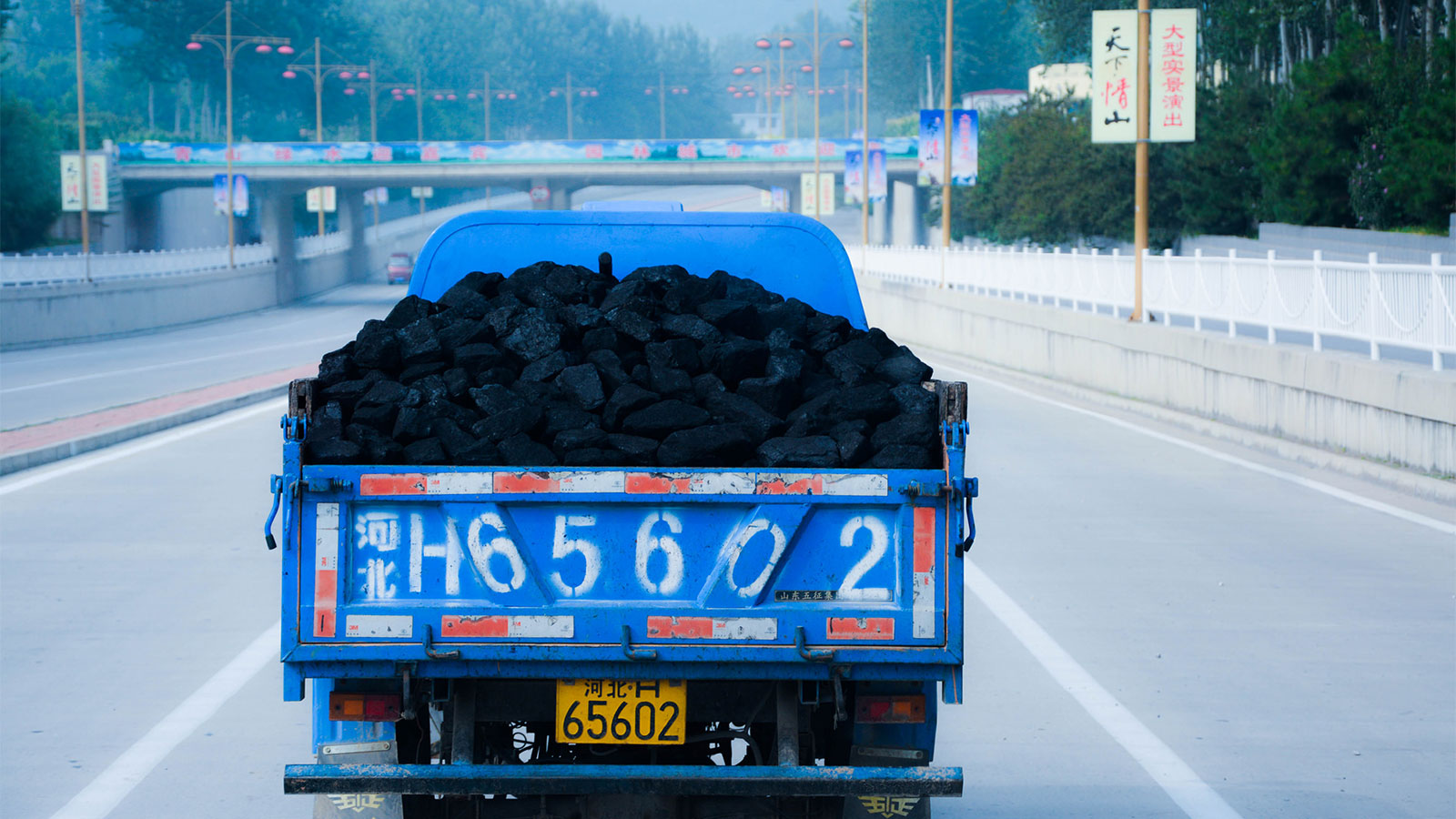 Coal truck in China