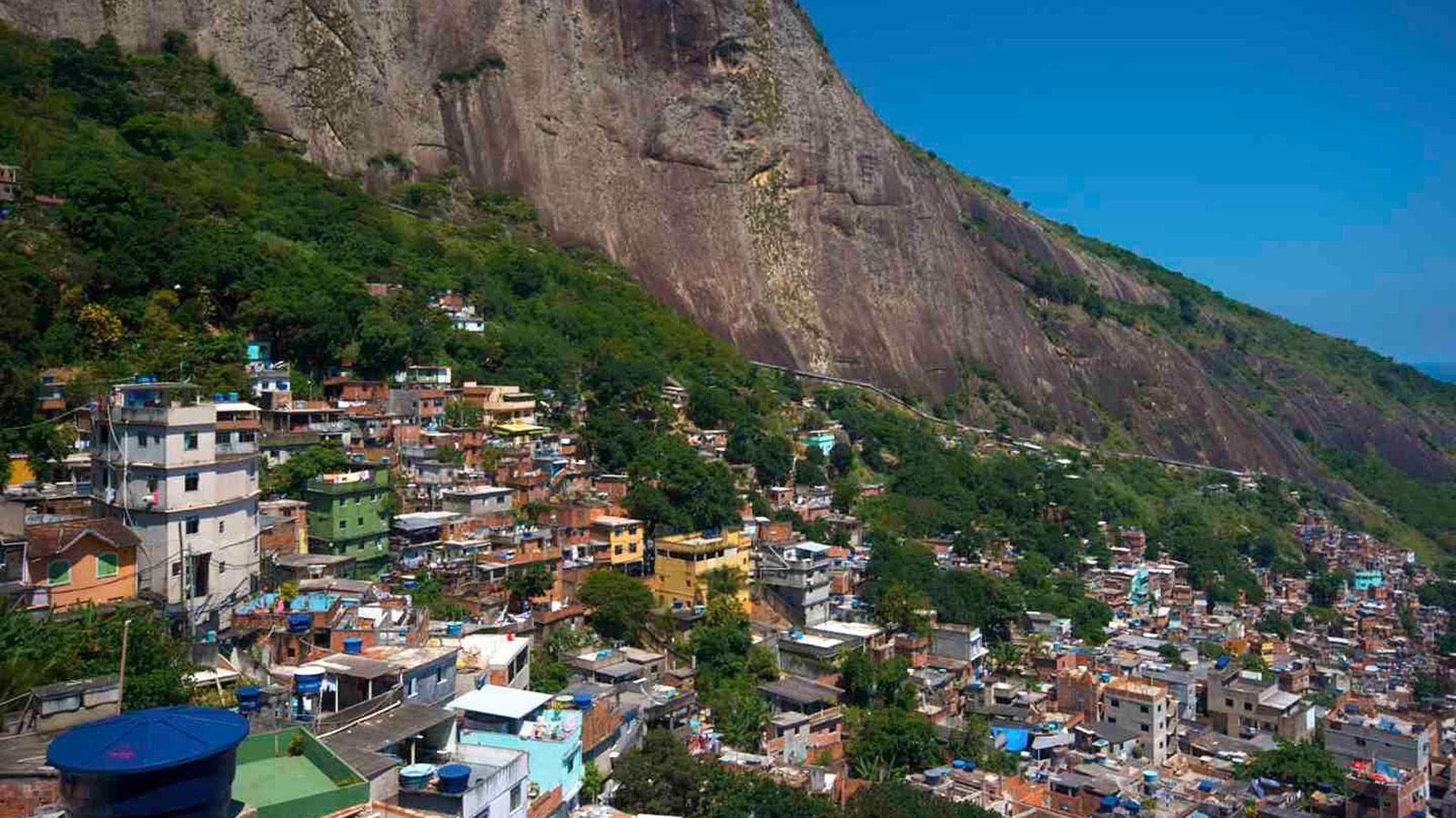 Favela in Rocinha, Brazil