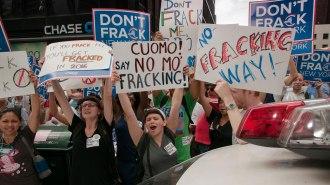 NYC fracking protestors