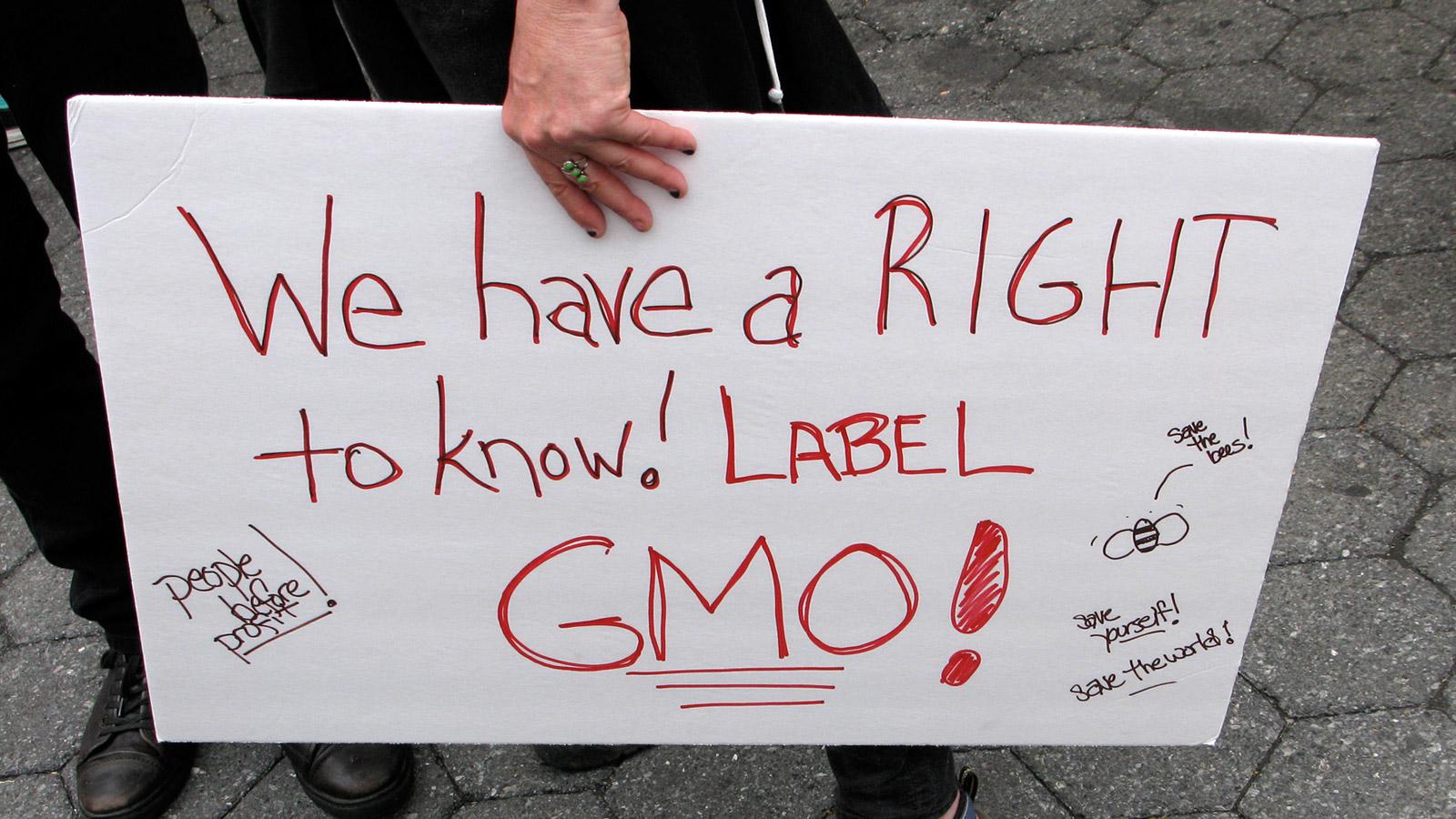 GMO labelling protest