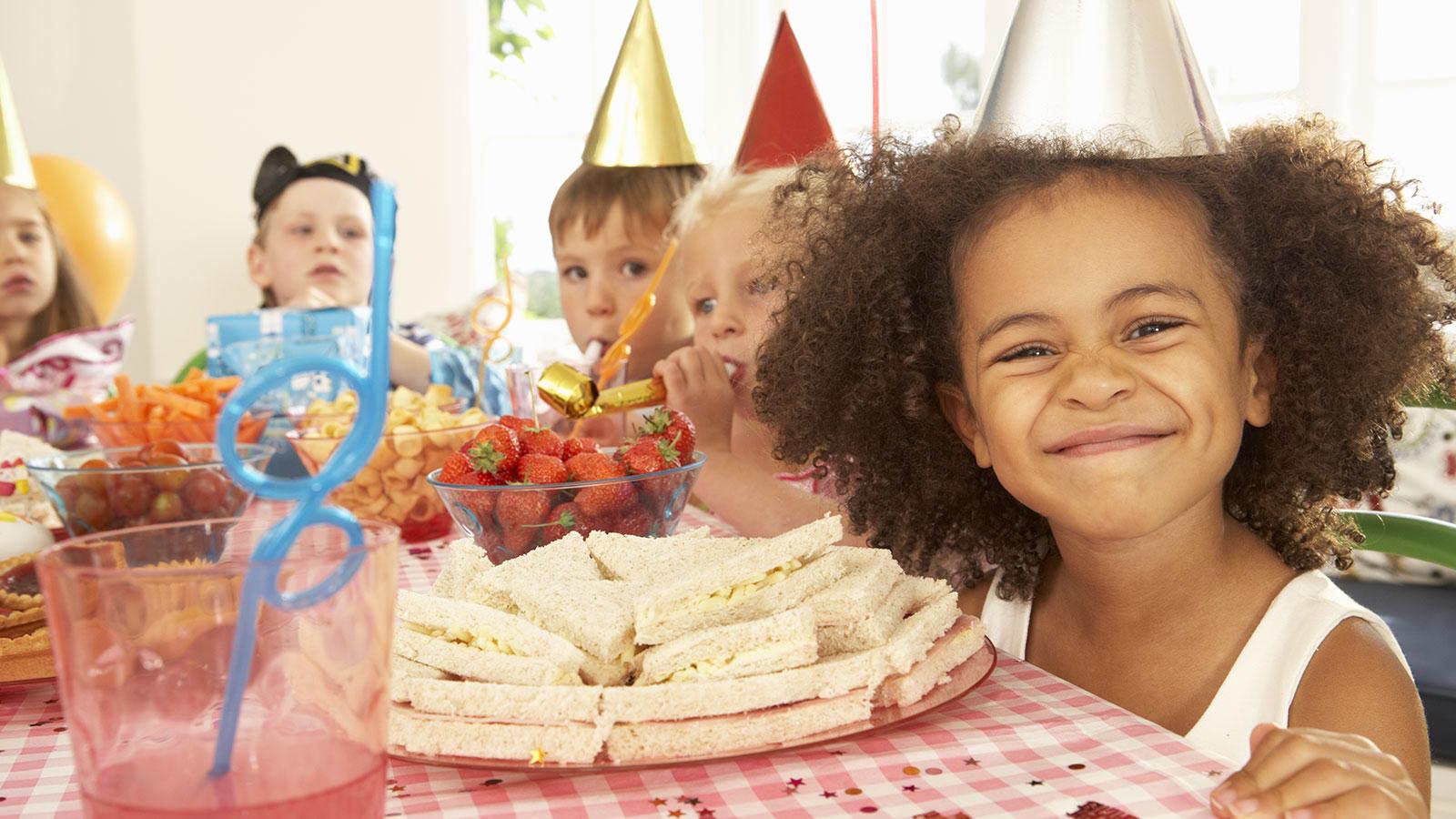 Children at a birthday party.